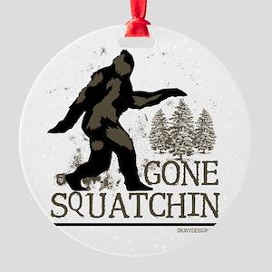 gonesquatchinRESIZED Round Ornament