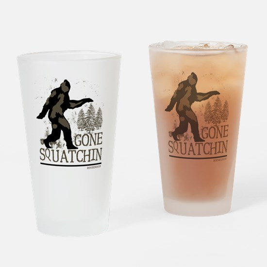 gonesquatchinRESIZED Drinking Glass