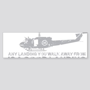 Any Landing Gray Sticker (Bumper)