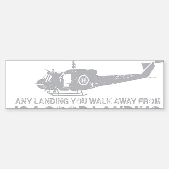 Any Landing Gray Sticker (Bumper)