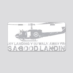 Any Landing Gray Aluminum License Plate