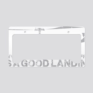 Any Landing Gray License Plate Holder