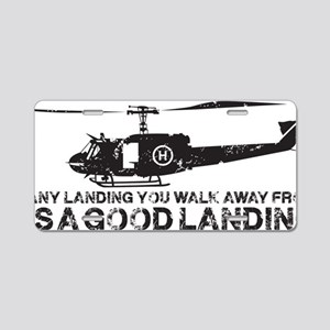 Any Landing Aluminum License Plate