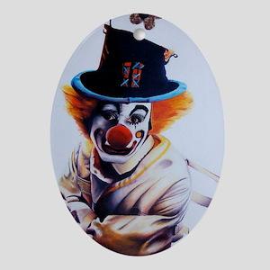 clownfear1 Oval Ornament