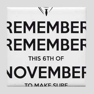 remember_remember_black Tile Coaster