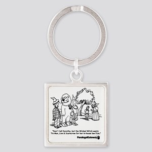 PG cartoon 2 Square Keychain
