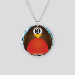 Robin Necklace Circle Charm