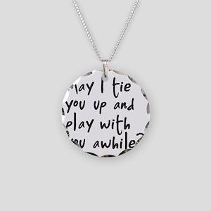 tie copy Necklace Circle Charm