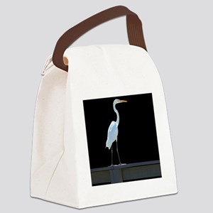 egret1 Canvas Lunch Bag