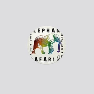 Rainbow Elephant Reserve dark text Mini Button