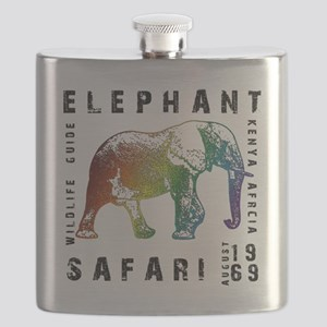 Rainbow Elephant Reserve dark text Flask