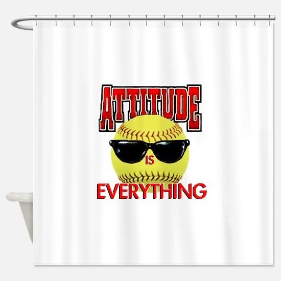 Attitude_Softball_2500 Shower Curtain
