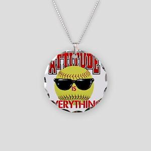 Attitude_Softball_2500 Necklace Circle Charm