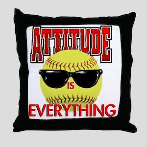 Attitude_Softball_2500 Throw Pillow