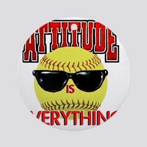 Attitude_Softball_2500 Round Ornament