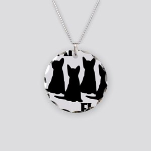 Cat Flag Necklace Circle Charm