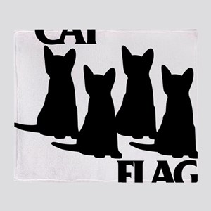 Cat Flag Throw Blanket