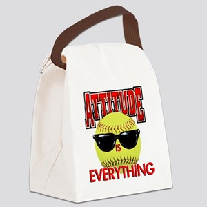 Attitude_Softball_2500 Canvas Lunch Bag