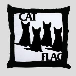 Cat Flag Throw Pillow