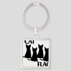 Cat Flag Square Keychain