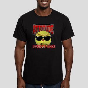Attitude_Softball_2500 Men's Fitted T-Shirt (dark)