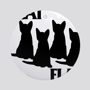 Cat Flag Round Ornament