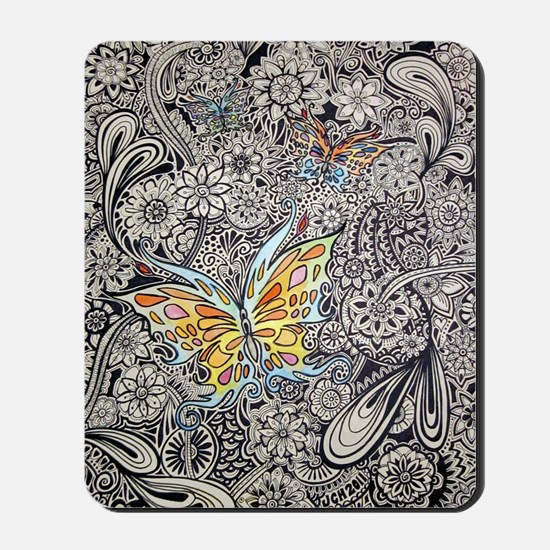 bwbutterflies zazzle poster Mousepad