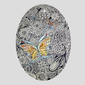 bwbutterflies zazzle poster Oval Ornament