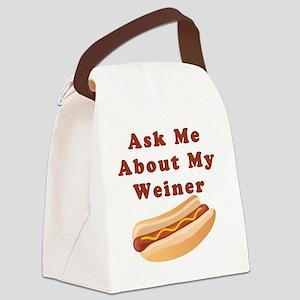 weiner Canvas Lunch Bag