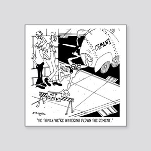 "6386_cement_cartoon_KK Square Sticker 3"" x 3"""