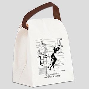 6393_inspector_cartoon Canvas Lunch Bag