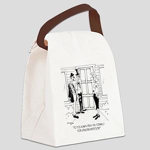 6389_inspection_cartoon Canvas Lunch Bag