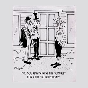 6389_inspection_cartoon Throw Blanket