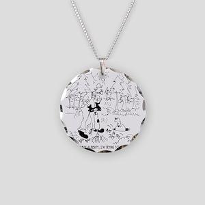 6388_jackhammer_cartoon Necklace Circle Charm