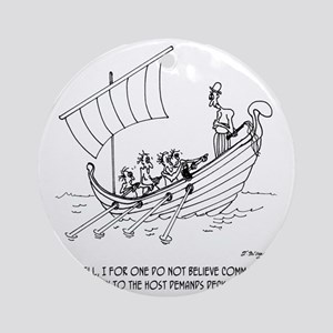 4652_boating_cartoon_RS Round Ornament