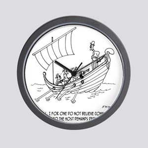 4652_boating_cartoon_RS Wall Clock