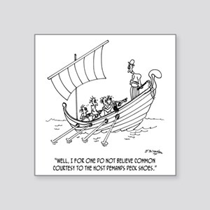 "4652_boating_cartoon_RS Square Sticker 3"" x 3"""