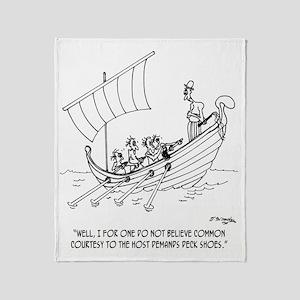4652_boating_cartoon_RS Throw Blanket