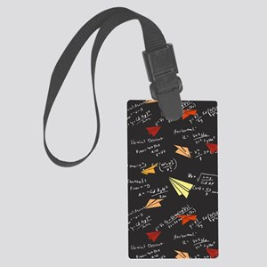 Physicsofflight_black_cell Large Luggage Tag