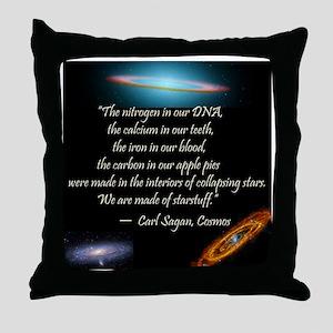Sagan quote Throw Pillow