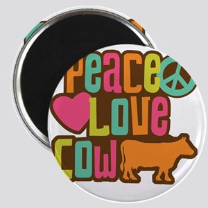 PeaceLoveCow2 Magnet
