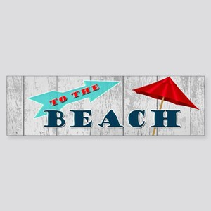 To The Beach Sticker (Bumper)