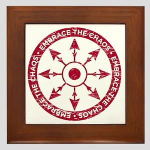 Embrace the chaos Framed Tile