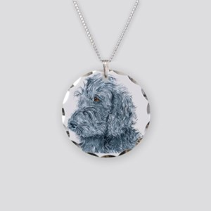 BLACKDOODLEsquare Necklace Circle Charm