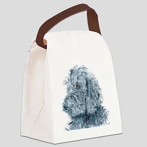 BLACKDOODLEsquare Canvas Lunch Bag