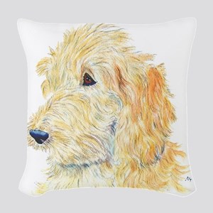 creamlabradoodle Woven Throw Pillow