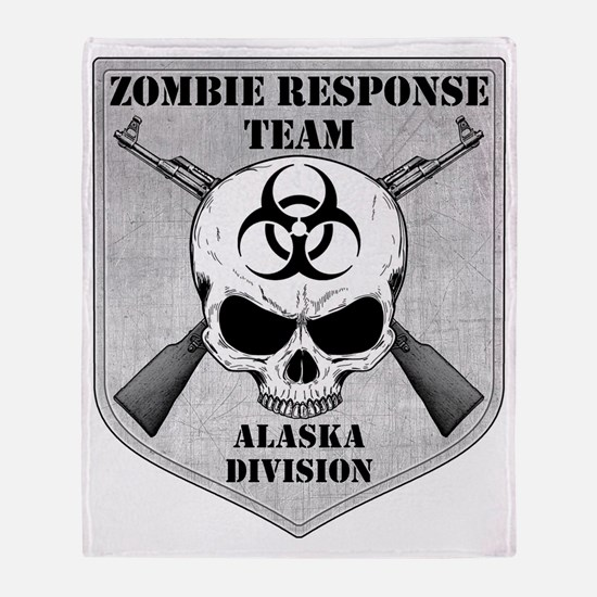 Zombie Response Team Alaska Throw Blanket