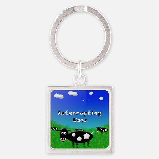 Cow5flat Square Keychain