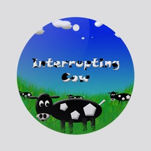 Cow5flat Round Ornament