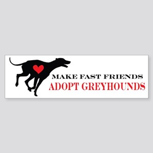 greyhound friend Sticker (Bumper)